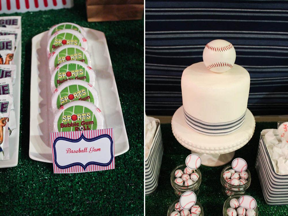 baseball gum and cake