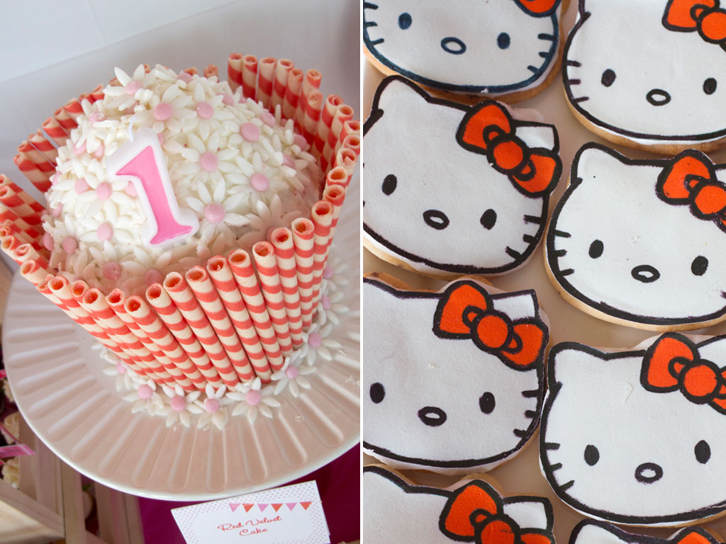 hello kitty cookies and cake