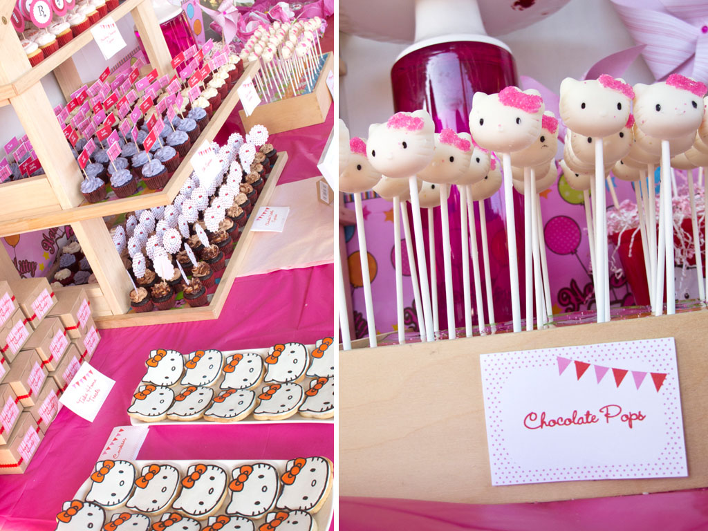 hello kitty cupcakes and pops