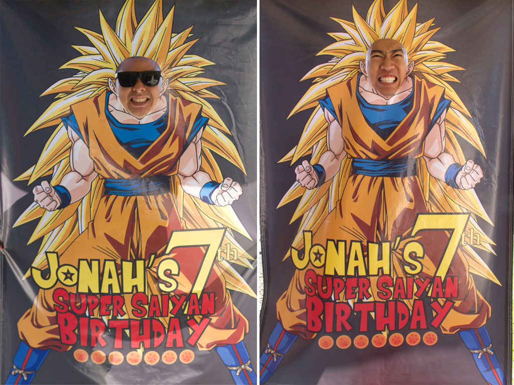 dragon ball z photo booth pictures