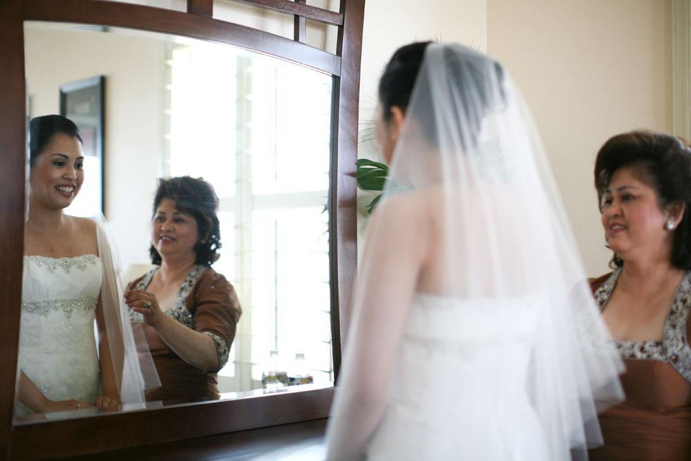 Cherry Blossom Wedding bride