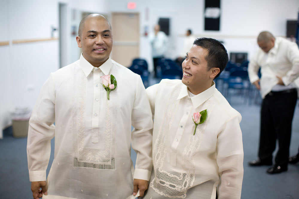 Cherry Blossom Wedding groom