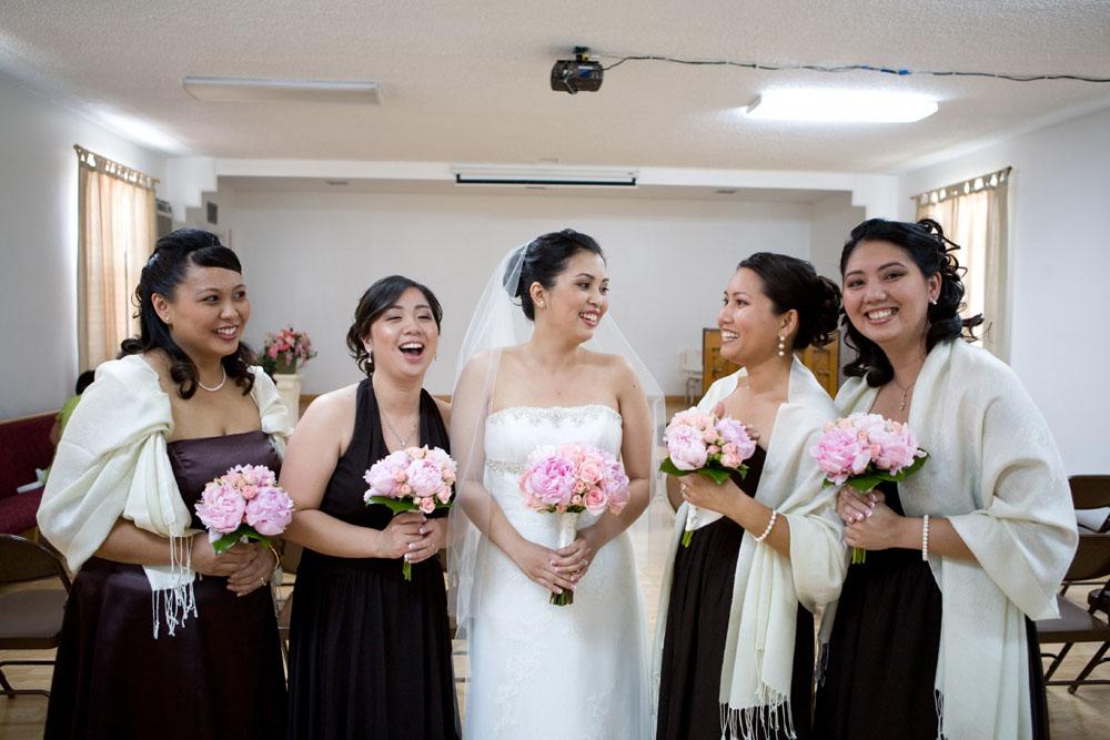 Cherry Blossom Wedding bridal party