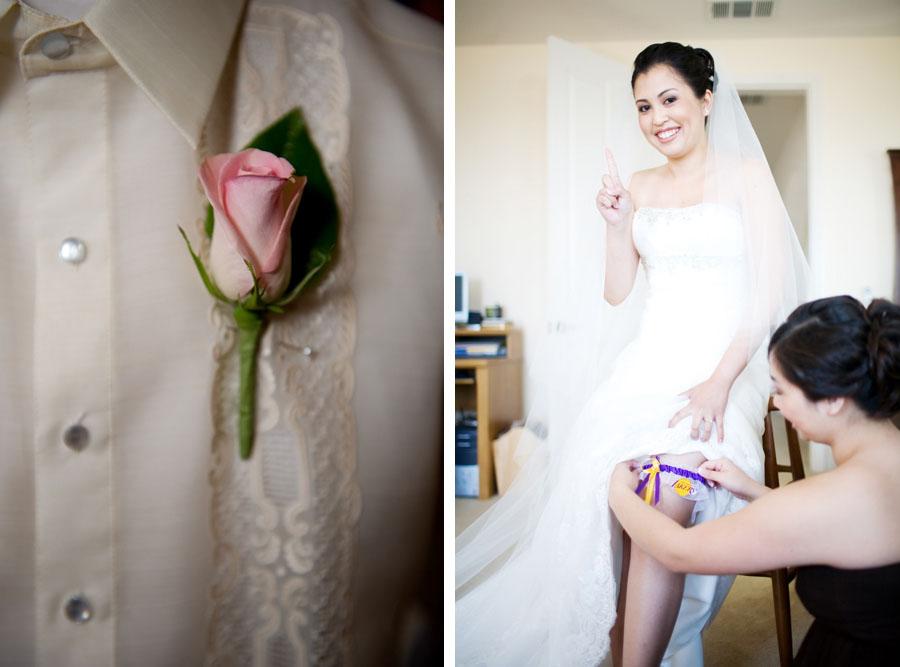 Cherry Blossom Wedding boutineer and garter