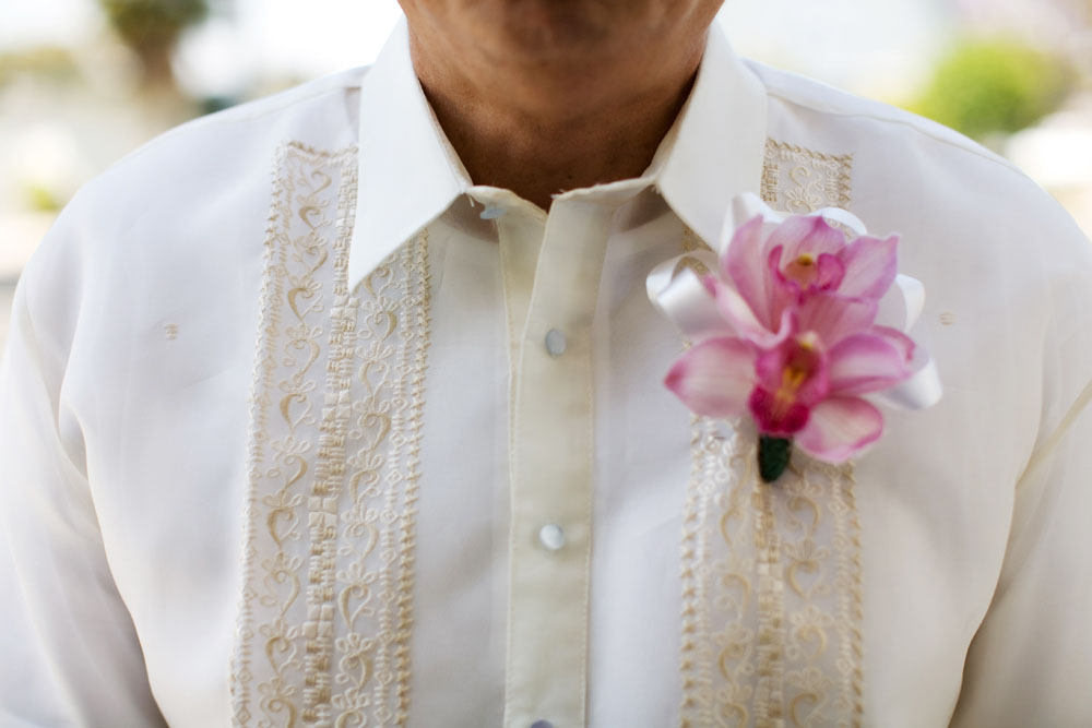 Cherry Blossom Wedding boutineer