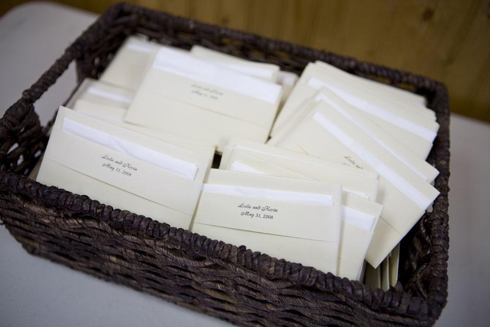 Cherry Blossom Wedding tissue envelopes