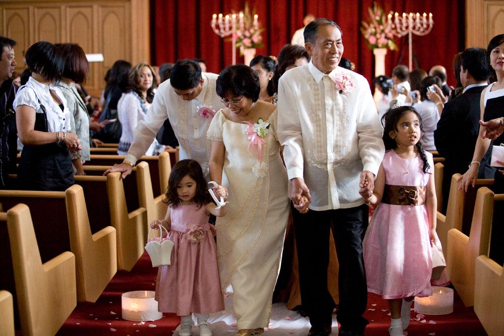 Cherry Blossom Wedding recessional