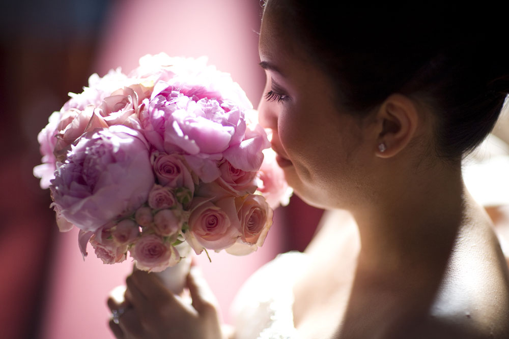 Cherry Blossom Wedding bride bouquet