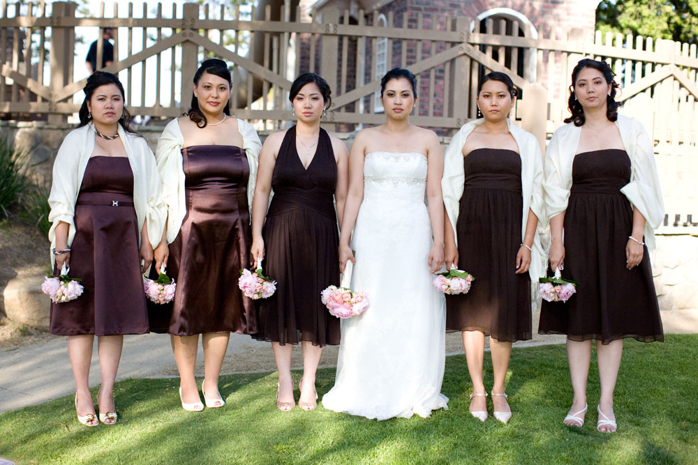 Cherry Blossom Wedding bridal party