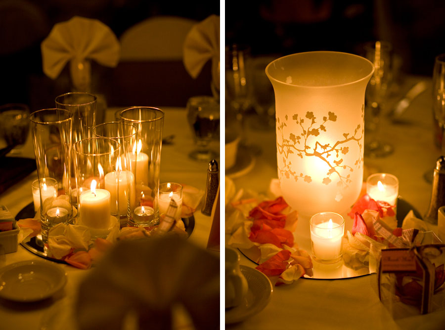 Cherry Blossom Wedding reception centerpiece