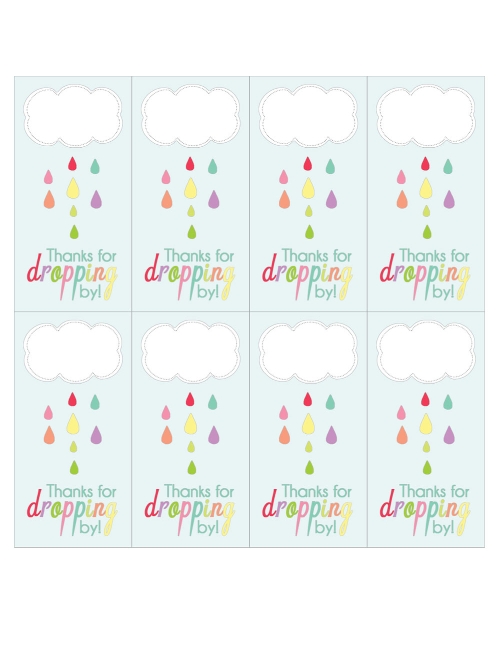 april showers favor tag printable