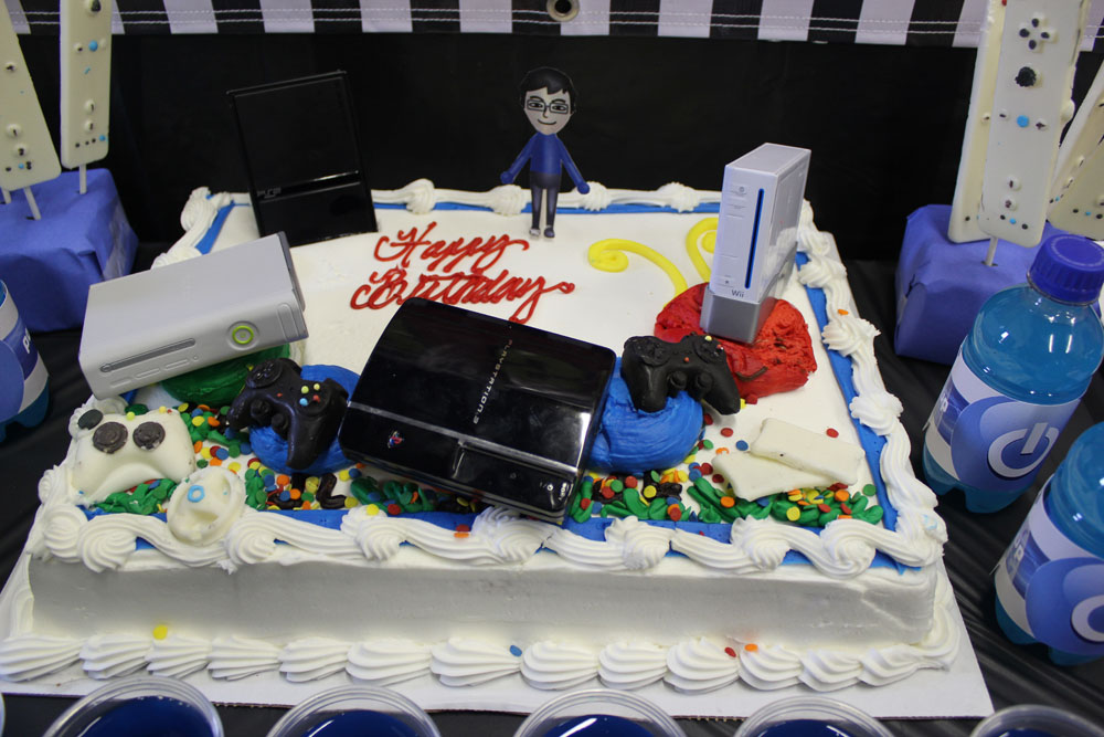 video game birthday cake