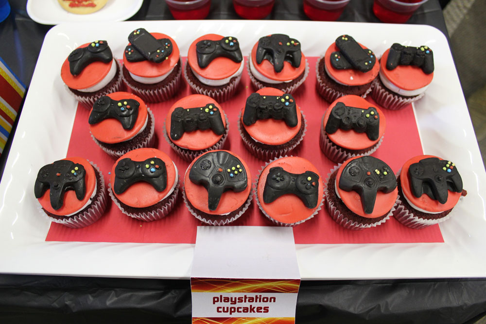 sony playstation cupcake toppers