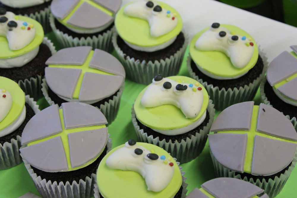 microsoft xbox cupcake toppers