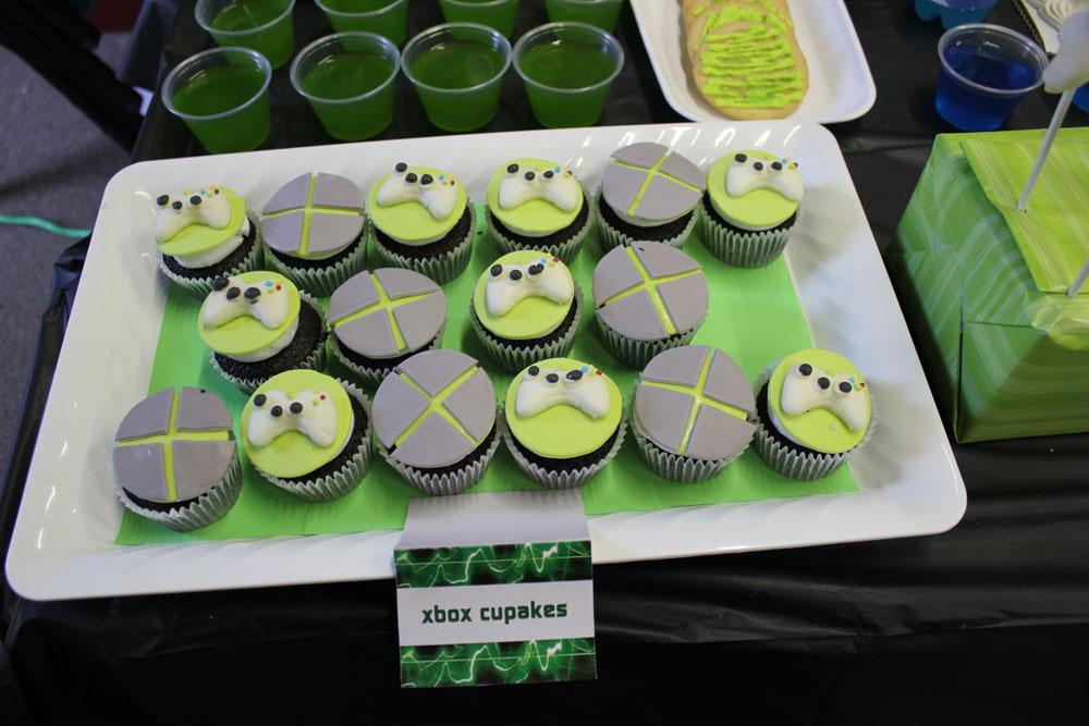 microsoft xbox cupcakes
