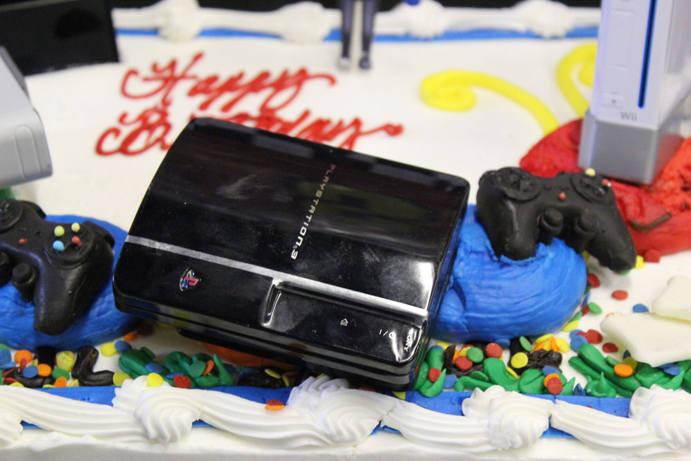 sony playstation console cake topper
