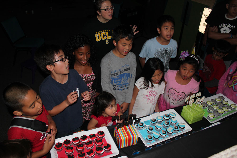 kids at the party