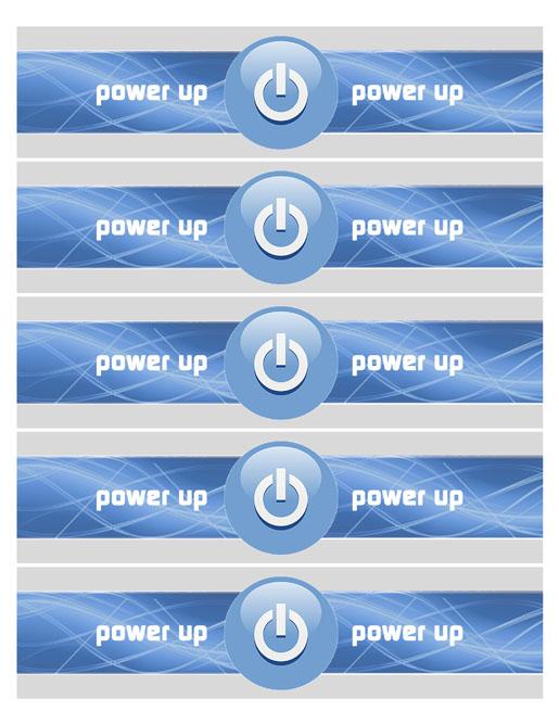 Power Up Juice Wraps Blue