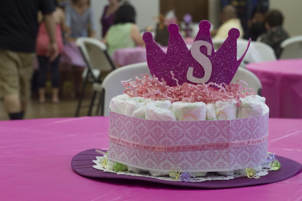 princess baby shower - diaper cake