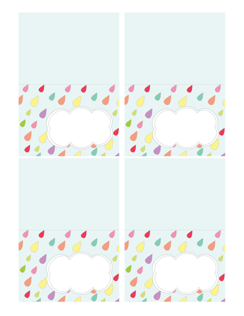 april showers food name card printable