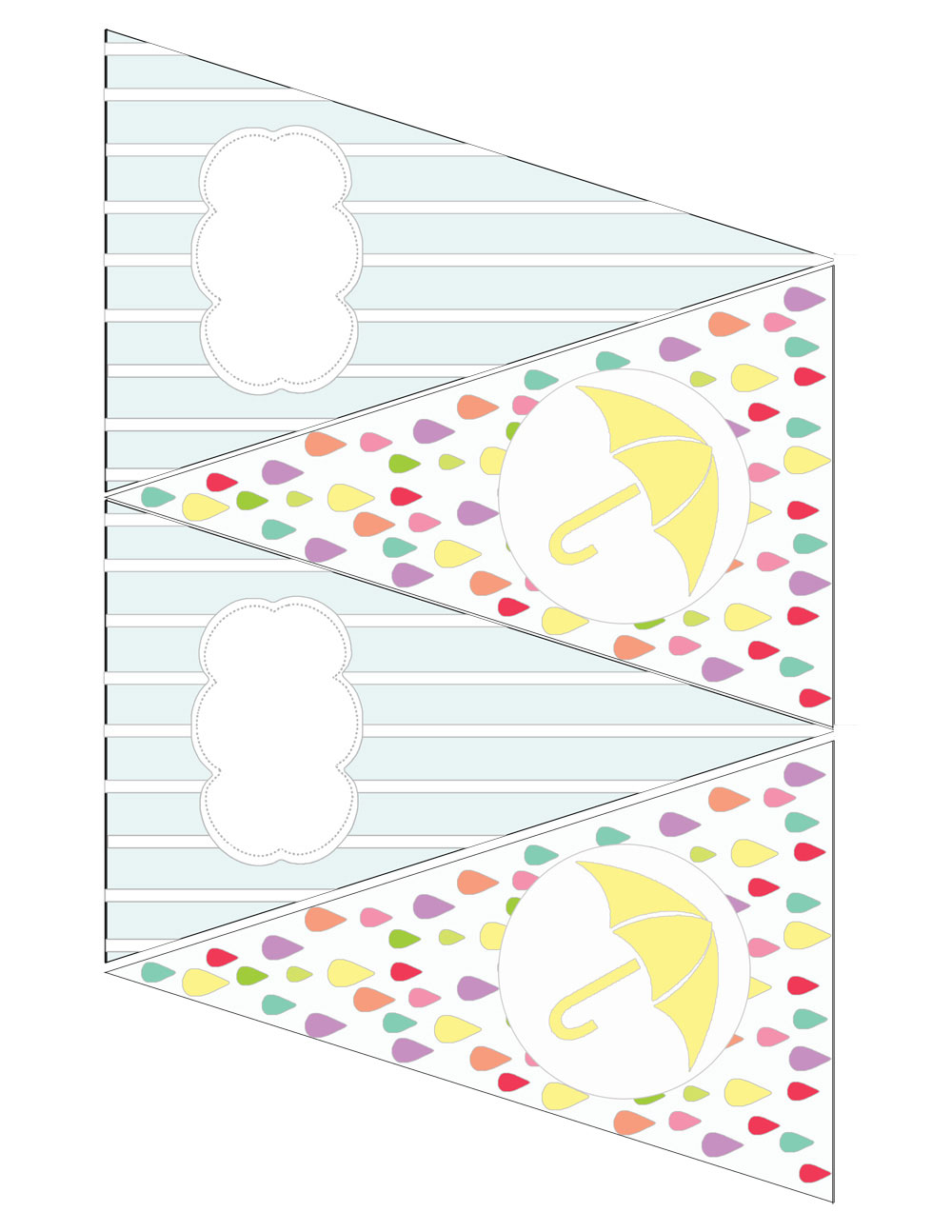 april showers rain shower banner printable