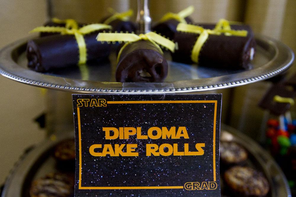 star wars graduation diploma cake rolls