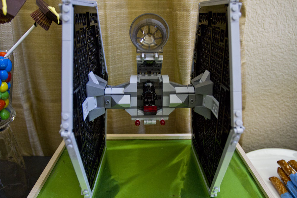 star wars graduation lego tie fighter