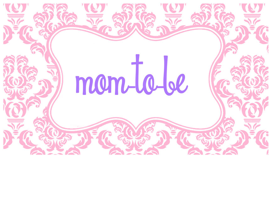 mom-to-be chair banner