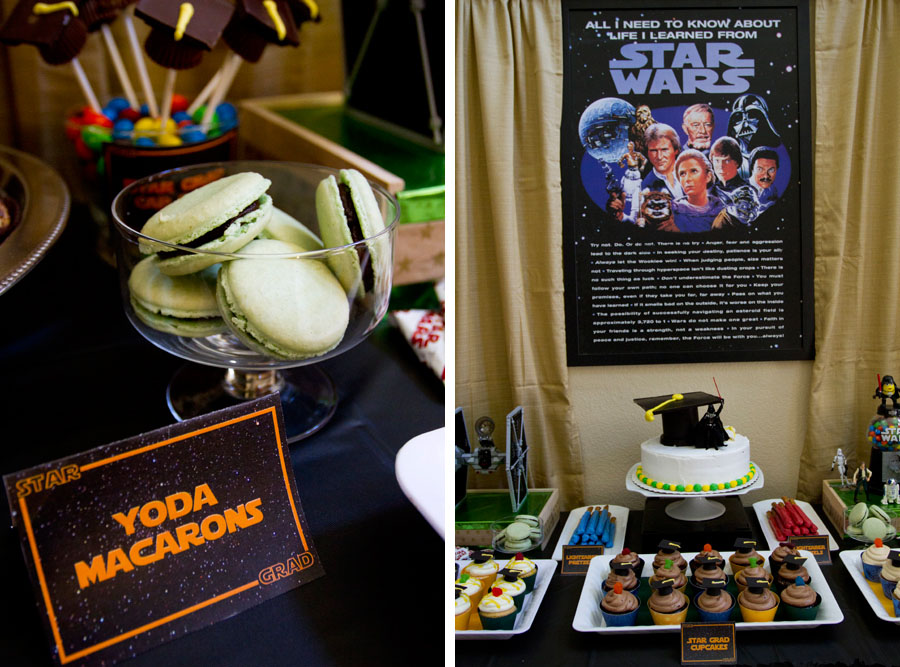 yoda macarons and star wars poster