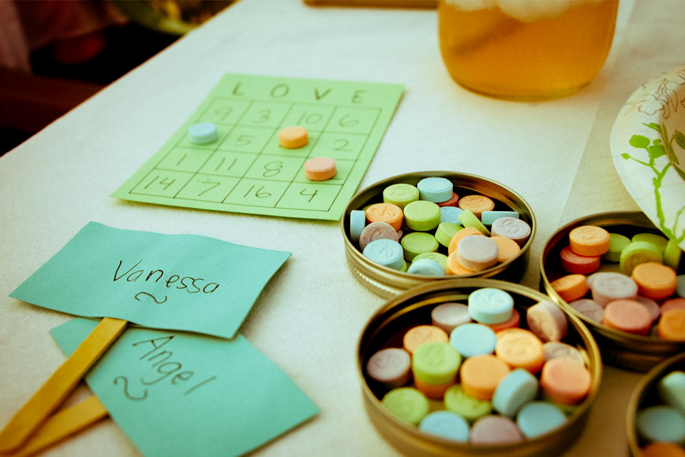 love bingo bridal shower game