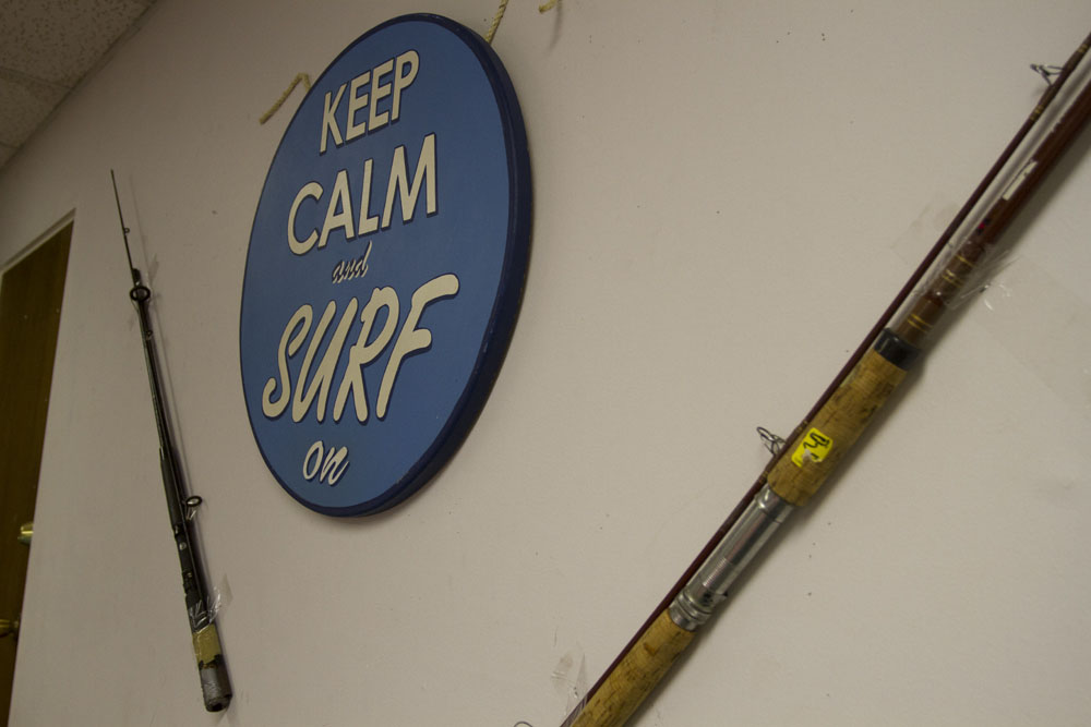 fishing rod decor