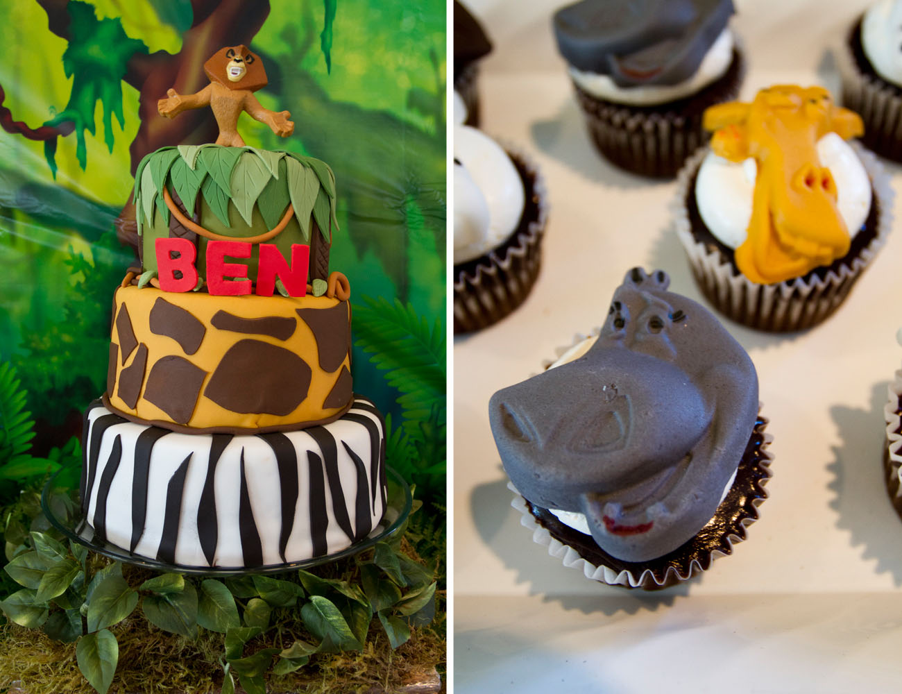 madagascar jungle birthday cake