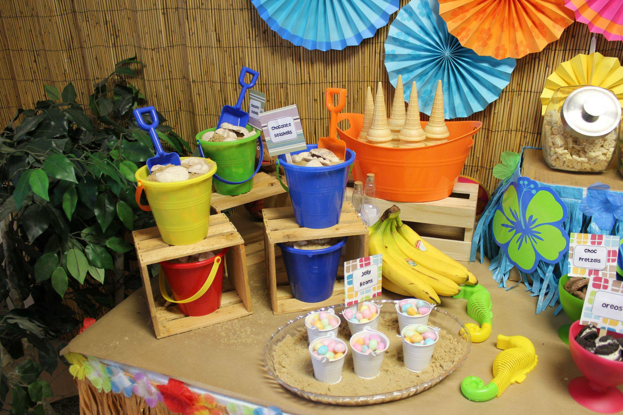 Luau Ice Cream Bar Buckets