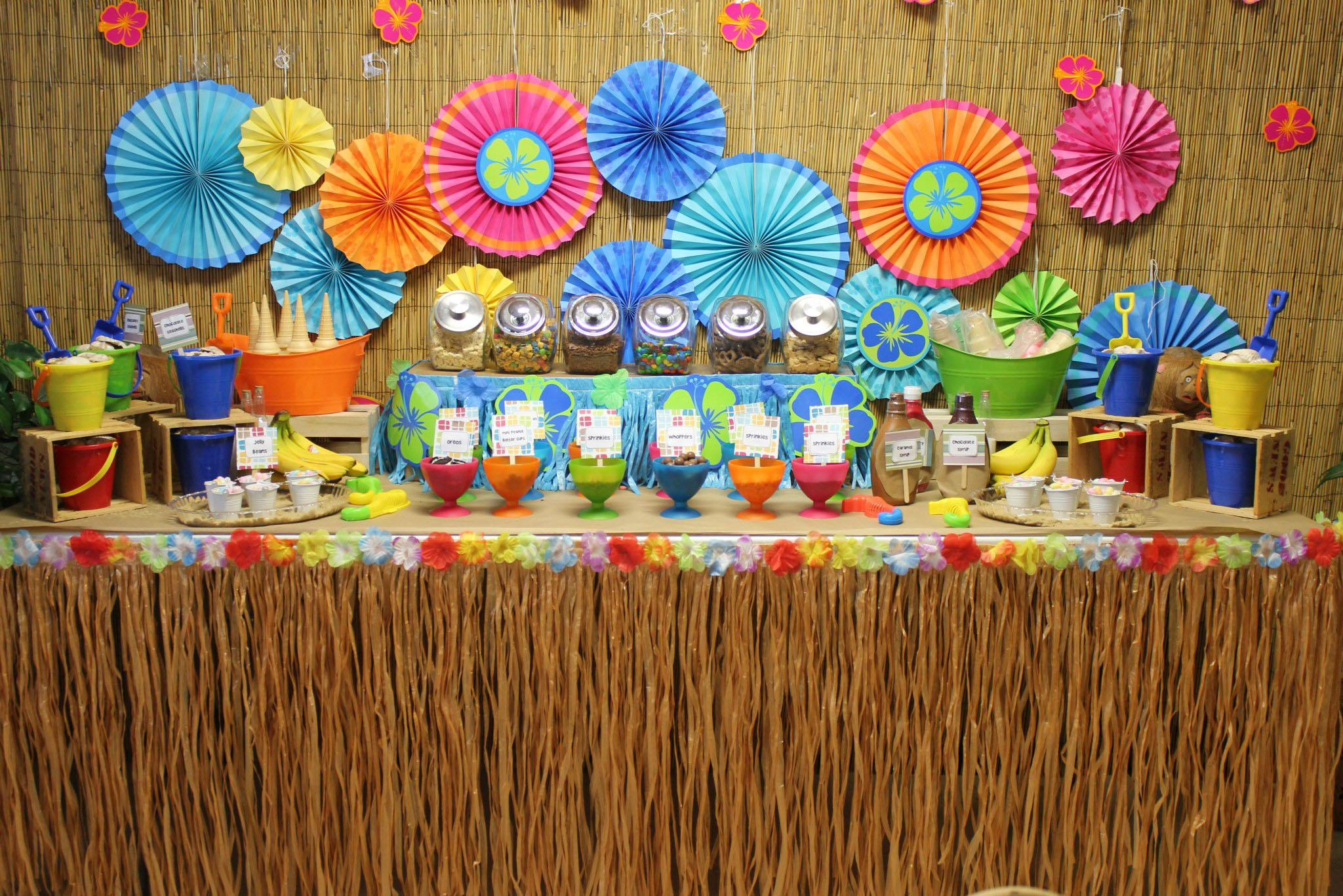 Luau Ice Cream Bar