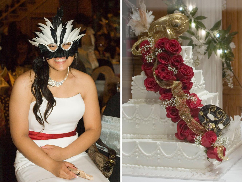 Masquerade Debut Cake