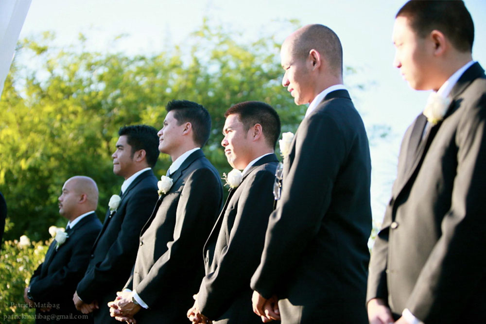 damask wedding groomsmen