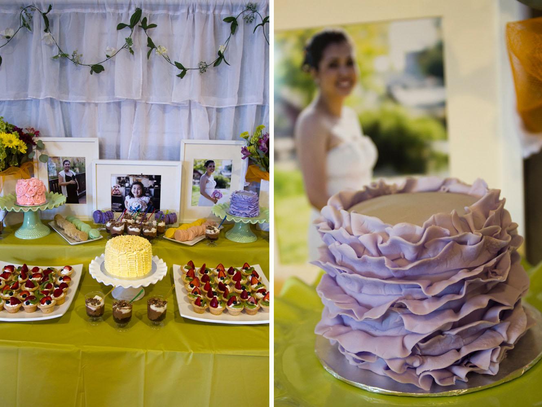 purple frill cake