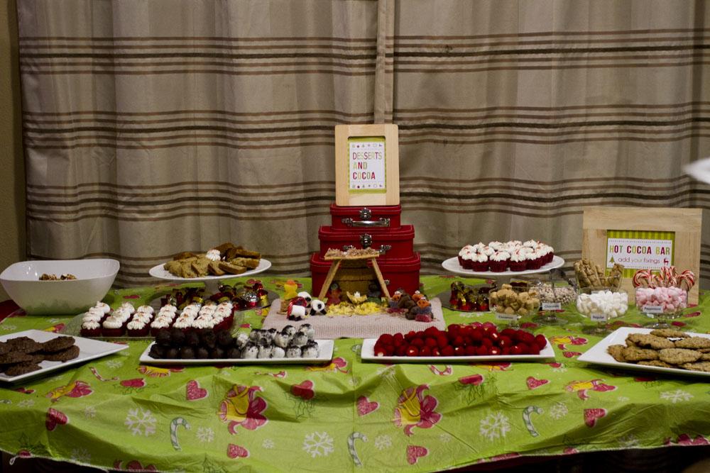 jingle with joy dessert table