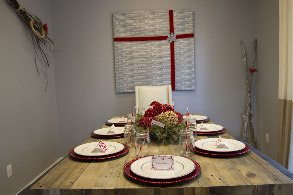 rustic modern winter dining room