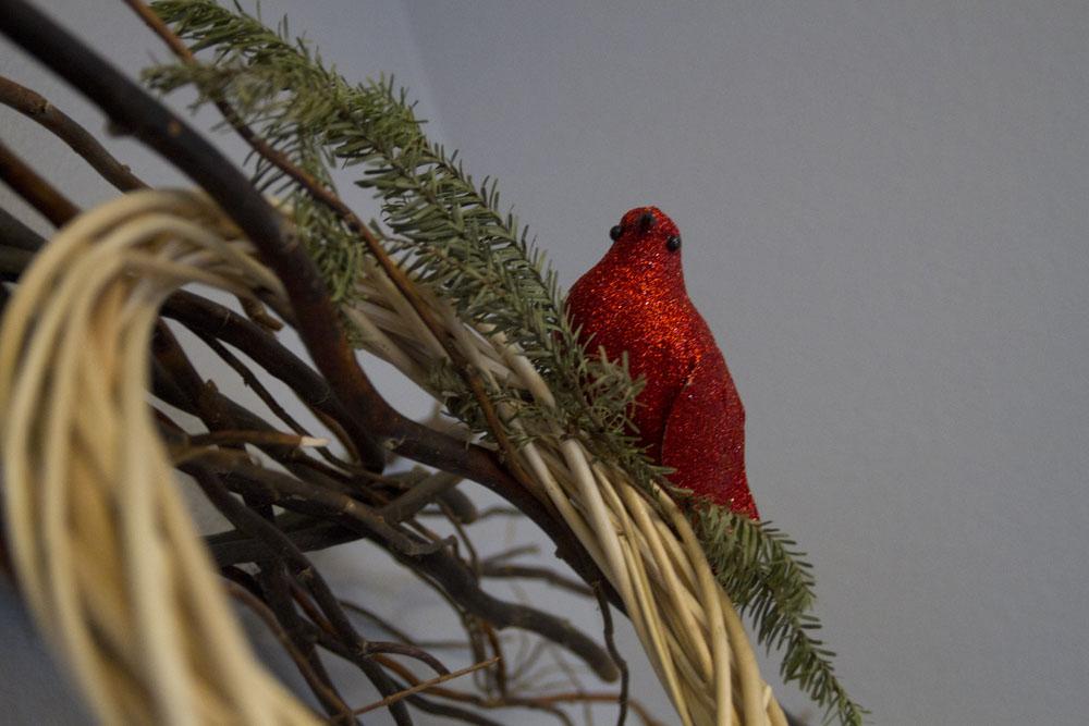 rustic modern winter bird