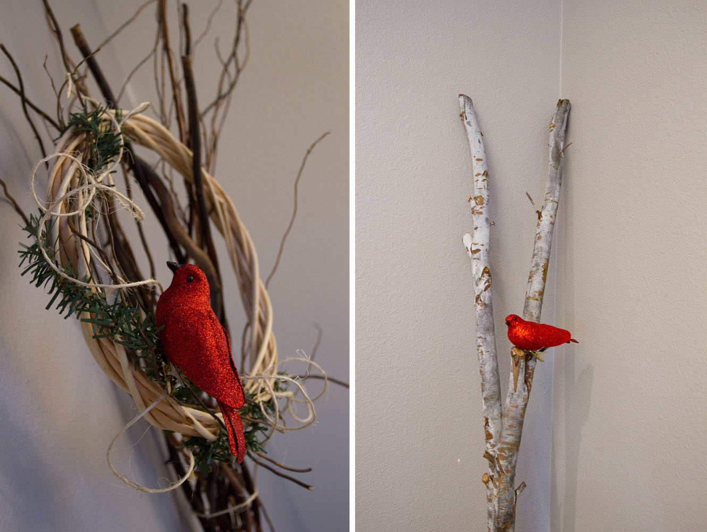 rustic modern winter birds