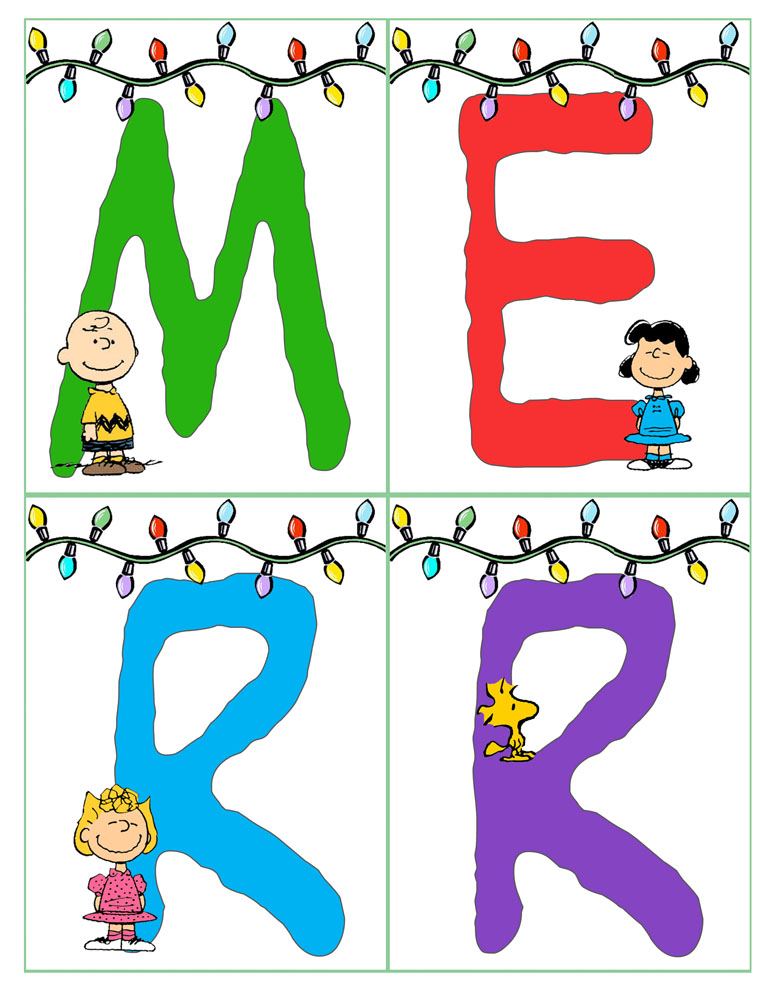 photo regarding Merry Christmas Banner Printable named Peanuts Xmas Banner Merry Xmas And Delighted Clean