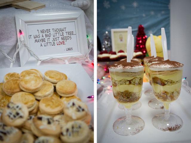 charlie brown christmas dessert table015