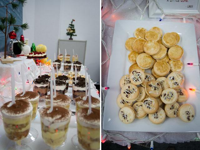 charlie brown christmas dessert table020