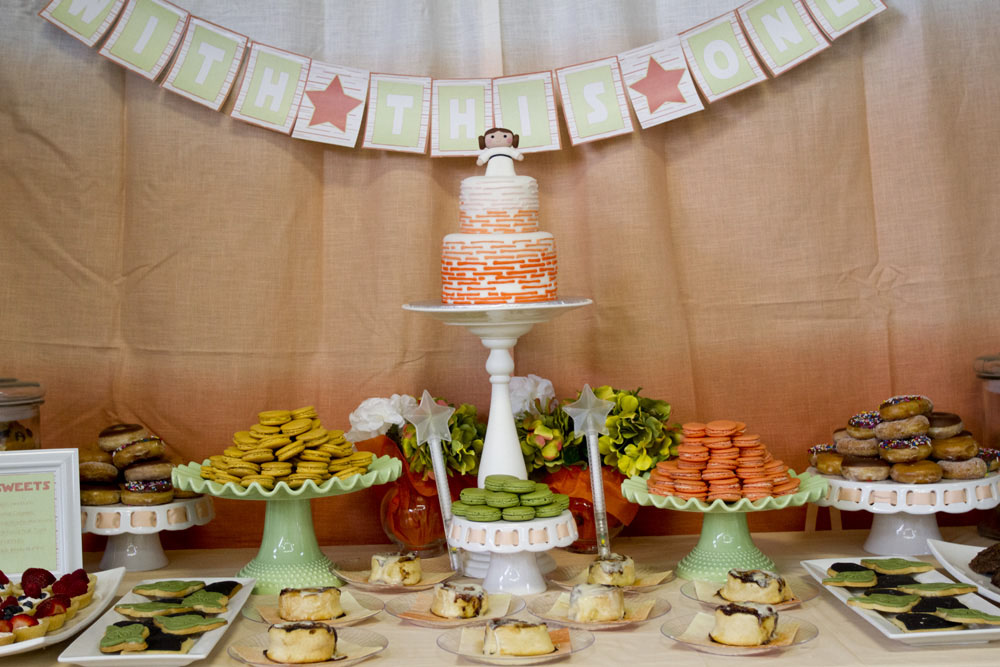 {STAR WARS} Princess Leia Baby Shower Dessert Table