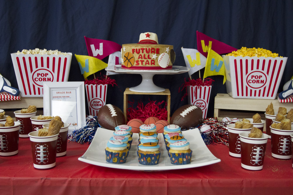 All-Star Snack Bar Dessert Table