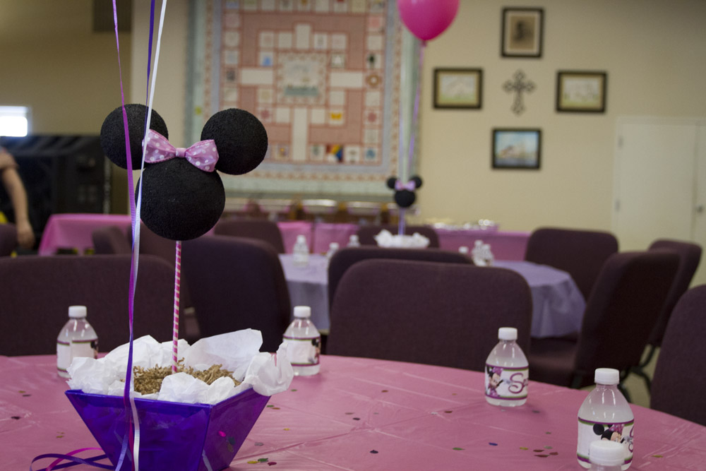 {Pink and Purple} Minnie Mouse First Birthday