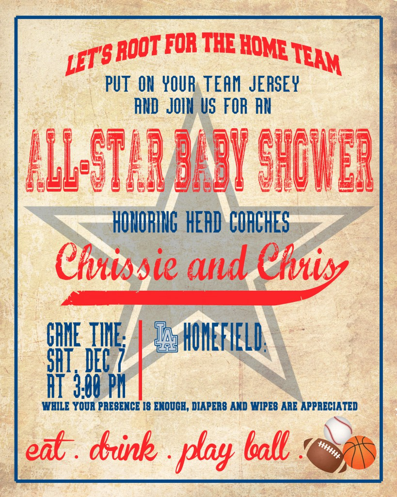 all star shower invite