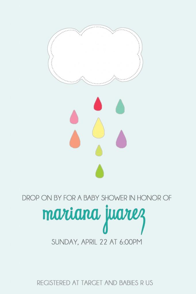 April Showers Invitation