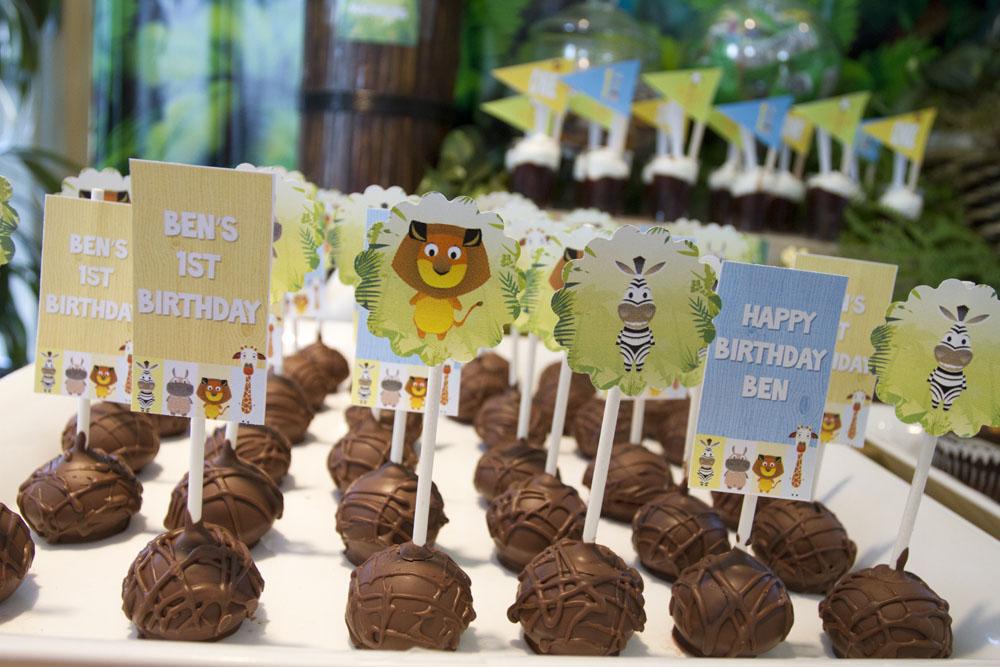 Chocolate Madagascar Cake Pops